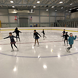 Our Learn To Figure Skate in a group lesson environment program.